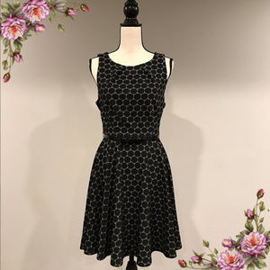 MAKE AN OFFER Fit and flair dress with belt NWOT